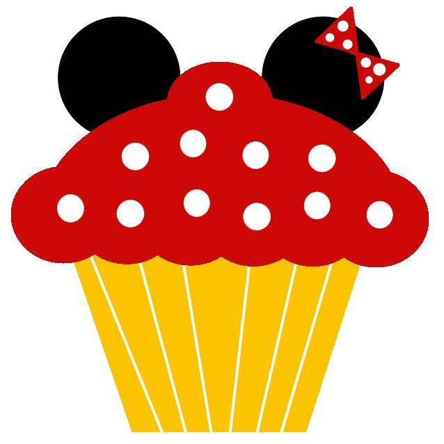 2 sided minnie mouse cupcake head clipart clipart black and white Image result for mickey birthday cupcakes printable free | Vinyls ... clipart black and white