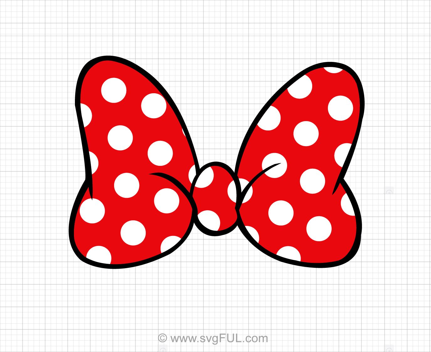 Mo+-o minnie mouse clipart clip art free library Minnie Mouse Polka Dot Bow SVG Clip Art | Lauren\'s 1st birthday ... clip art free library