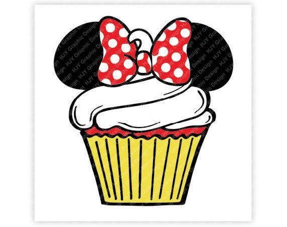 2 sided minnie mouse cupcake head clipart