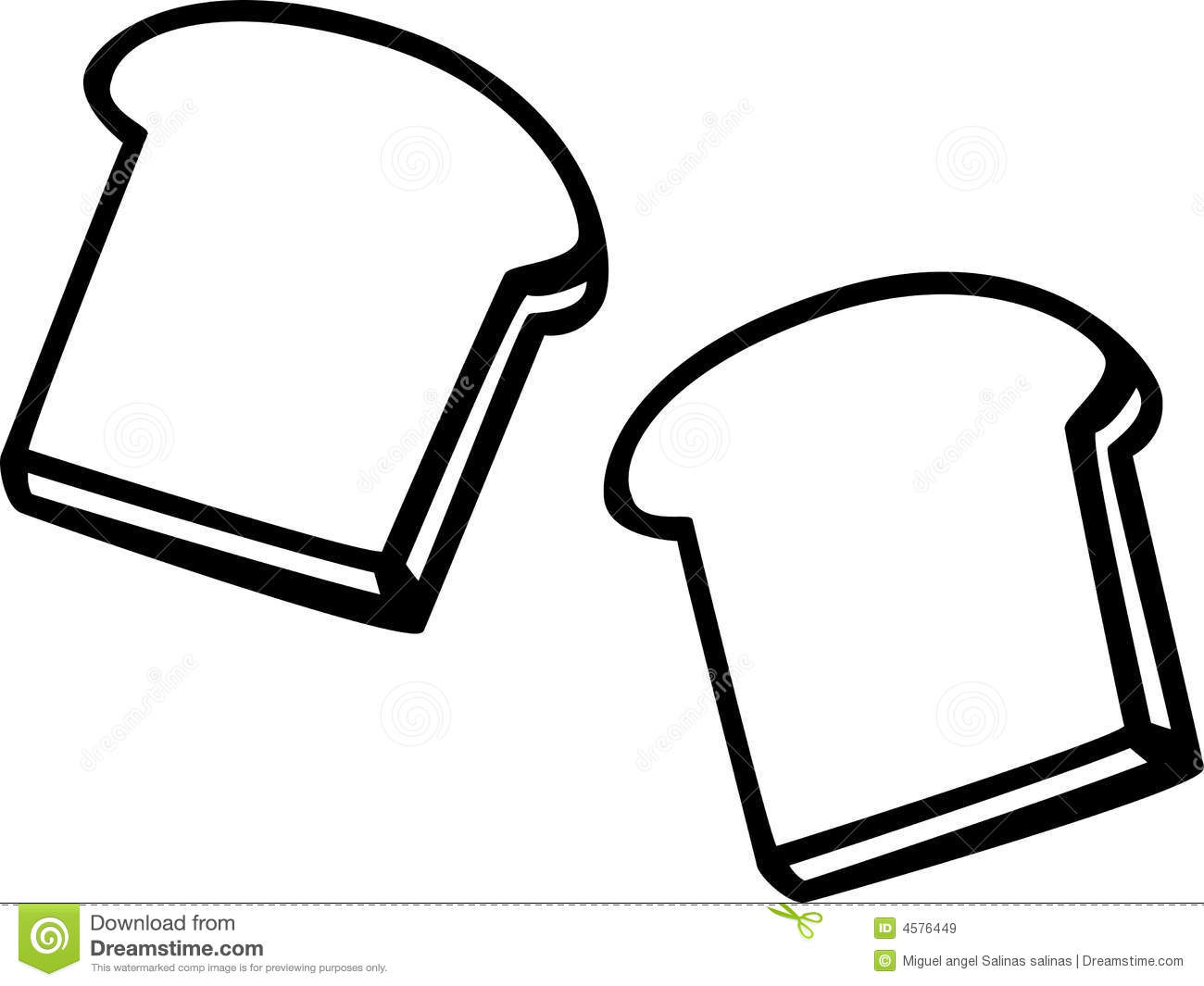 2 slices of bread clipart image library stock Slice Of Bread Clipart Black And White | Clipart Panda - Free ... image library stock