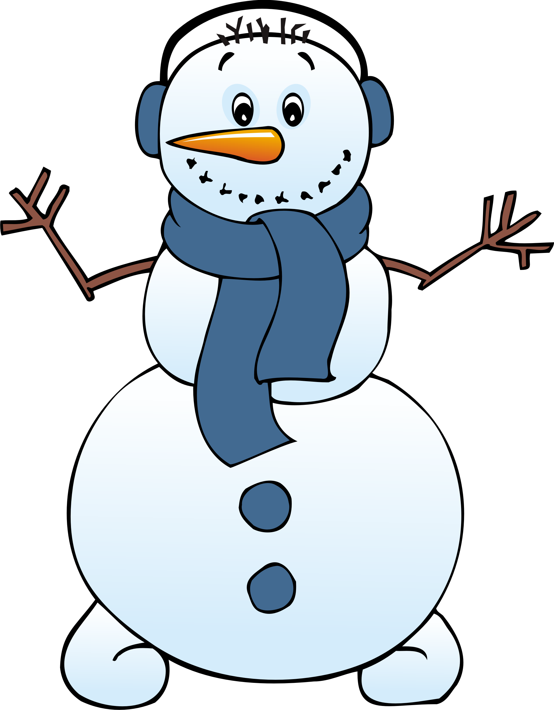 Snowman cartoon clipart