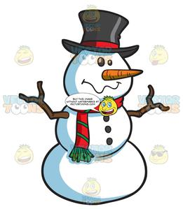 2 snowball snowman clipart svg black and white stock A Silly Snowman svg black and white stock