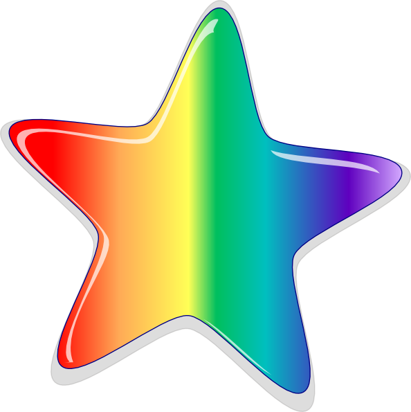 Star picture clipart svg freeuse Rainbow Star Clip Art at Clker.com - vector clip art online, royalty ... svg freeuse