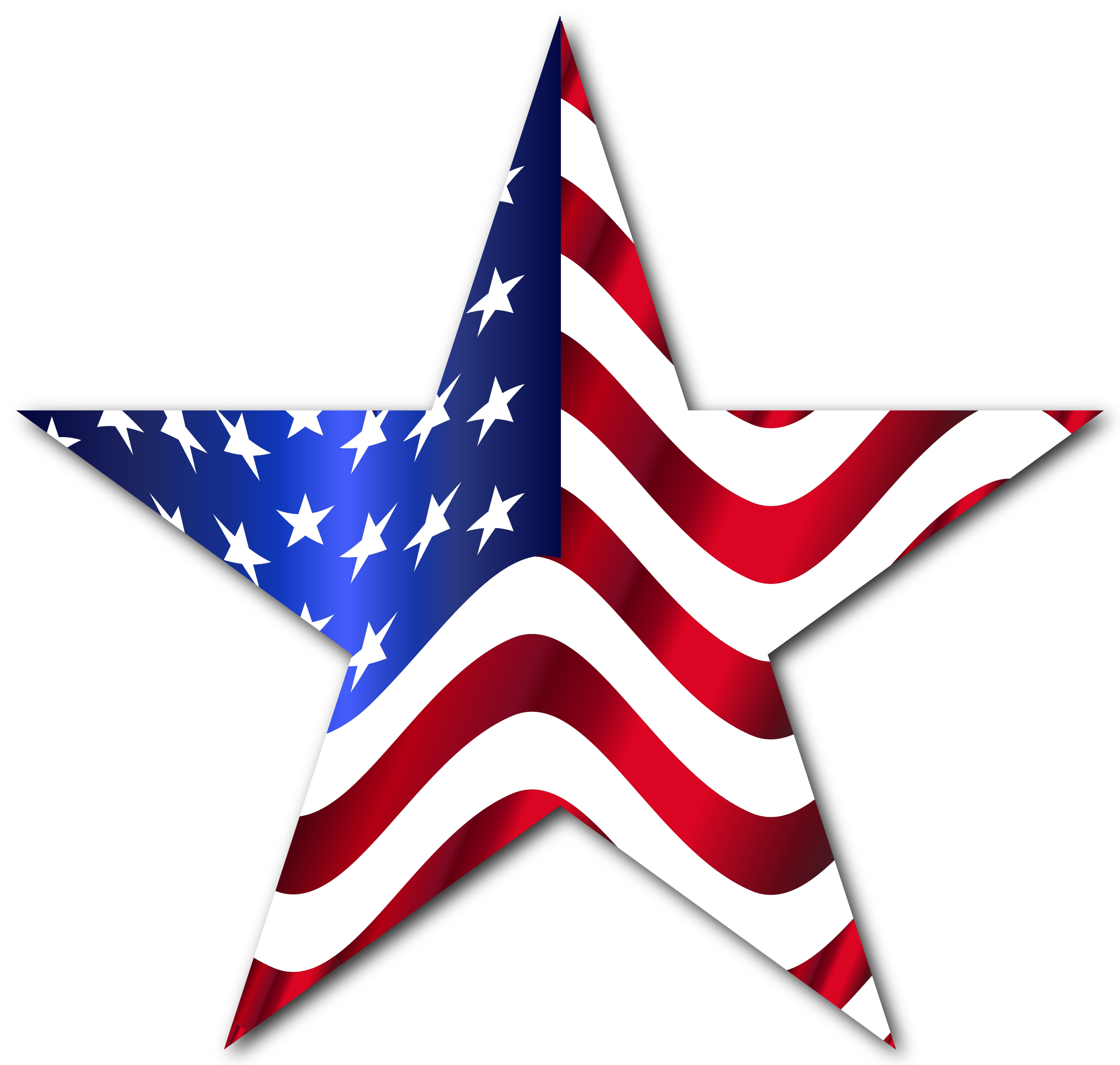 2 star clipart clipart download Clipart - American Flag Star 2 With Drop Shadow clipart download