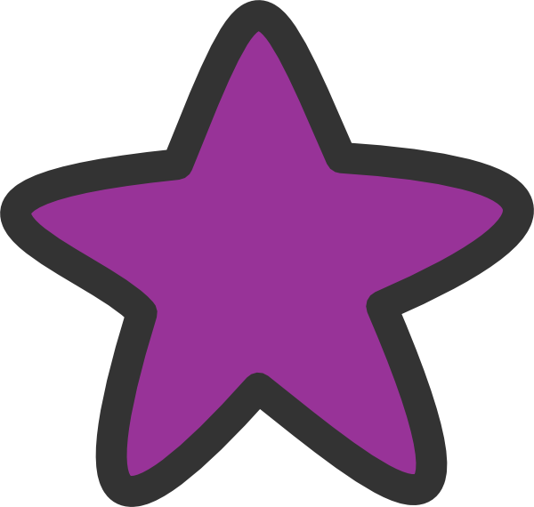Purple star clipart image black and white stock Purple Star For Starry Clip Art at Clker.com - vector clip art ... image black and white stock