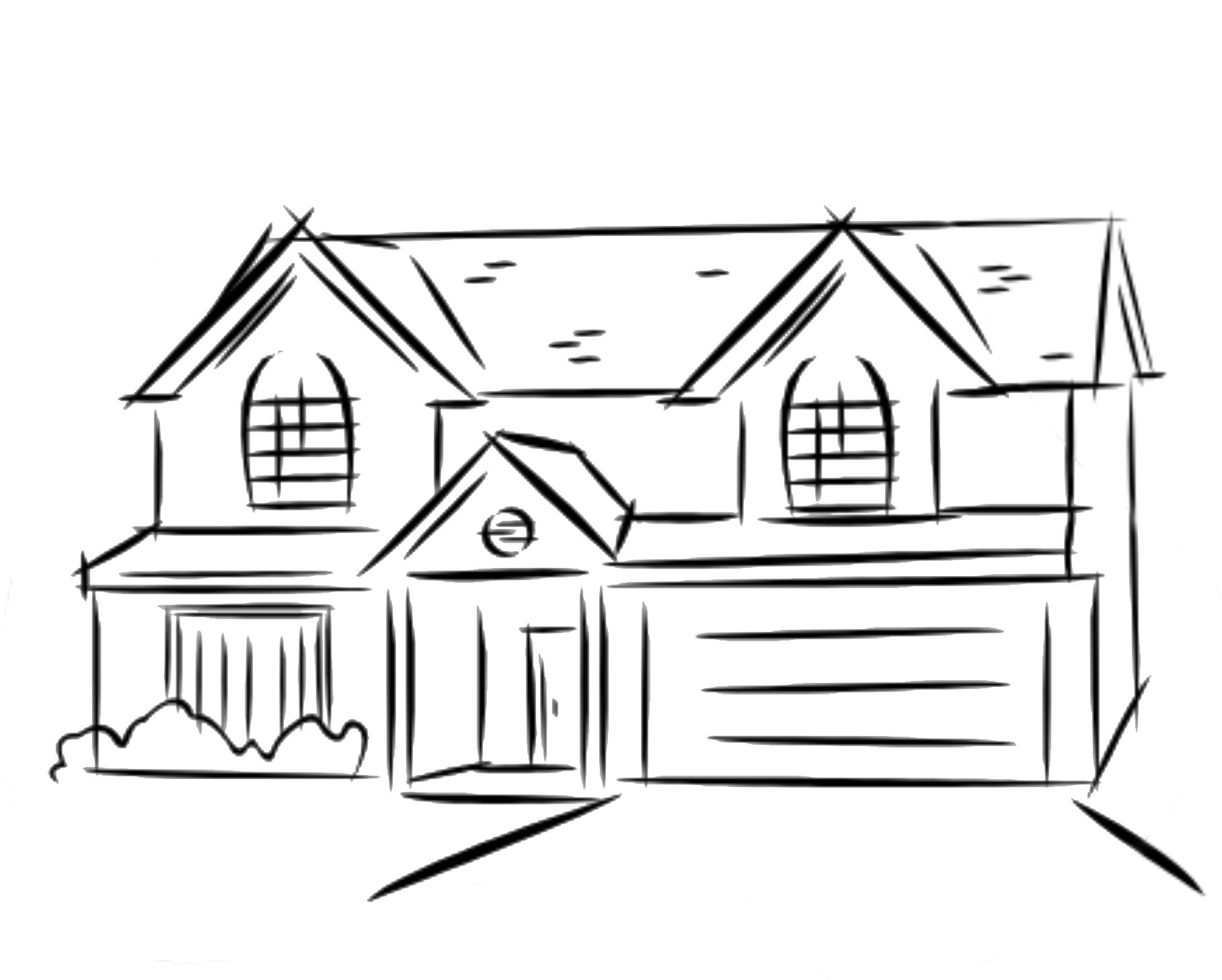 Black and white house clipart image transparent download Two Story House Drawing at GetDrawings.com | Free for personal use ... image transparent download