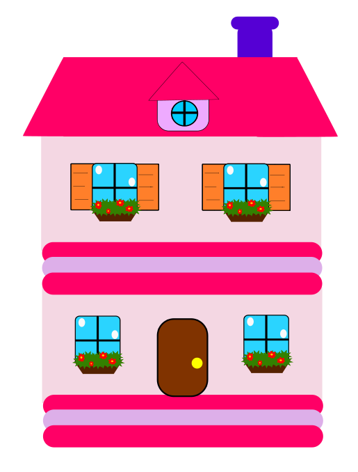 Big wooden house clipart graphic library download pink house | Houses | Pinterest | Clipart images, Free clipart ... graphic library download
