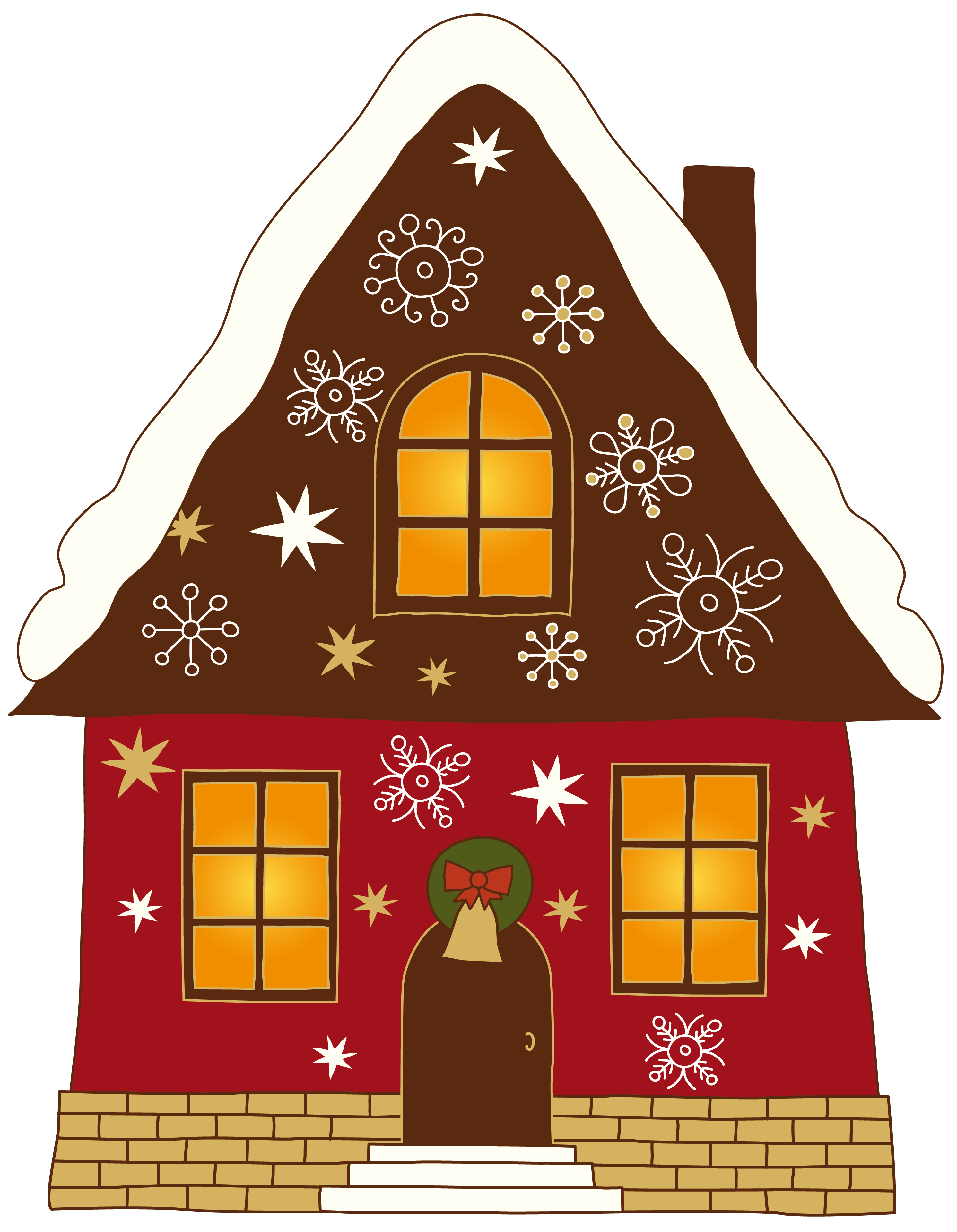 2 story house clipart picture royalty free library Christmas House Clipart | CUTE HOUSE'S & BUILDING ♥ | Pinterest ... picture royalty free library
