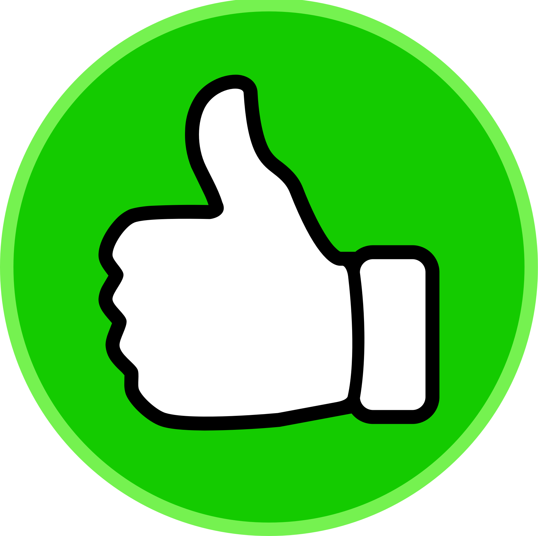 Free clipart thumbs up sign clip black and white stock Thumbs up clipart 2 - Clipartix clip black and white stock