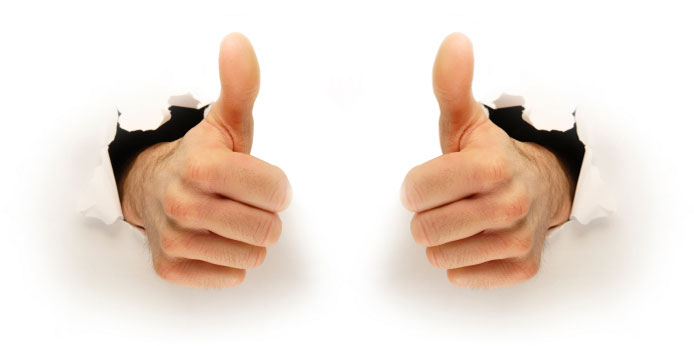 This Guy Two Thumbs Up Clipart - Clipart Kid banner black and white download