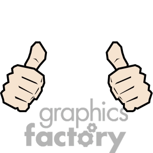 Two Thumbs Clipart - Clipart Kid transparent stock