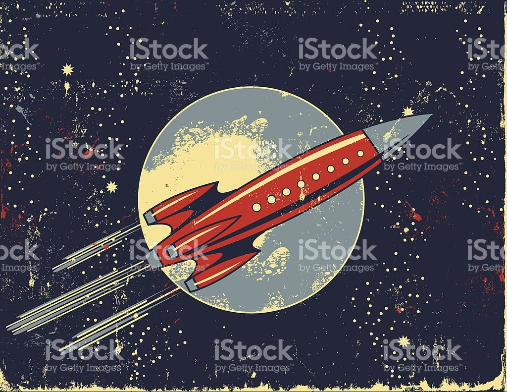 2 tone 747 clipart royalty free stock Cartoon Of A Vintage Spaceship Clip Art, Vector Images ... | space ... royalty free stock