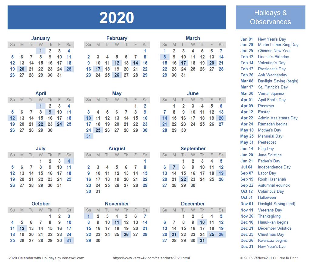 2 week vacation clipart calenda clip art freeuse 2020 Calendar Templates and Images clip art freeuse