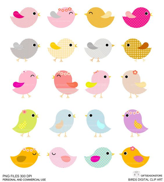 20 clip art picture freeuse download 20 Birds Digital clip art for Personal and Commercial use ... picture freeuse download