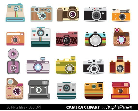 20 clipart photography svg library download Camera Clipart Digital Photography Graphics Commercial Use for ... svg library download