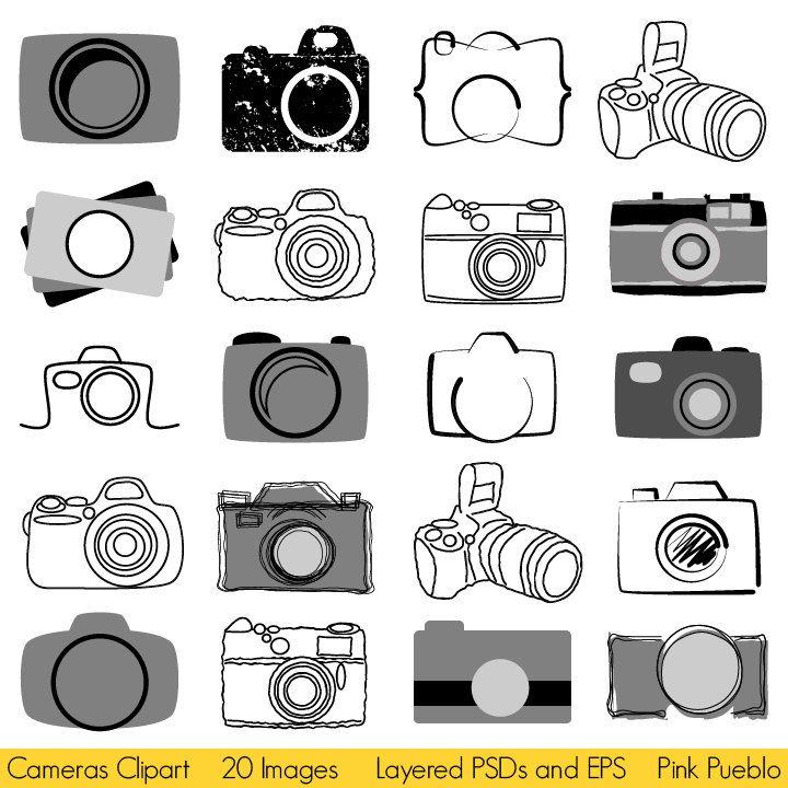 Logo camera clipart royalty free Camera Clipart Clip Art, Photography Logo Elements, Layered Editable ... royalty free