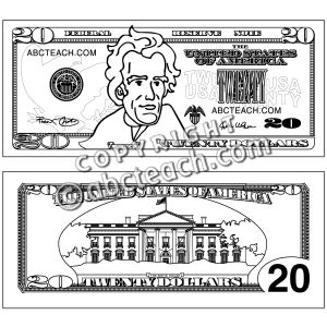 20 dollar bill clipart vector royalty free Die besten 17 Ideen zu Twenty Dollar Bill auf Pinterest | Dollar ... vector royalty free