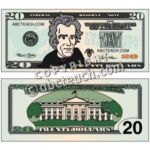 20 dollar bill clipart banner black and white stock Dollar bill clipart color - ClipartFest banner black and white stock