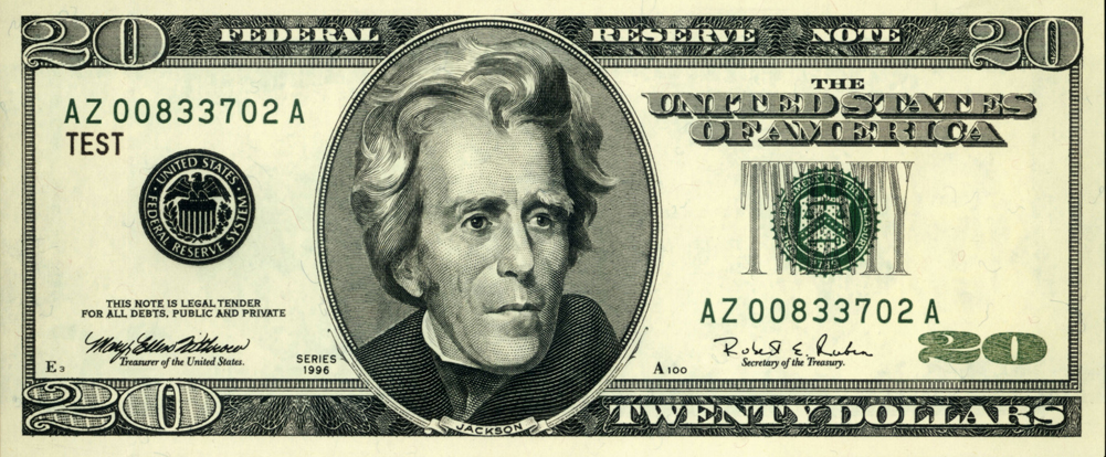 20 dollar bill clipart image black and white stock The best reason to keep Andrew Jackson on the $20 bill - Chris ... image black and white stock