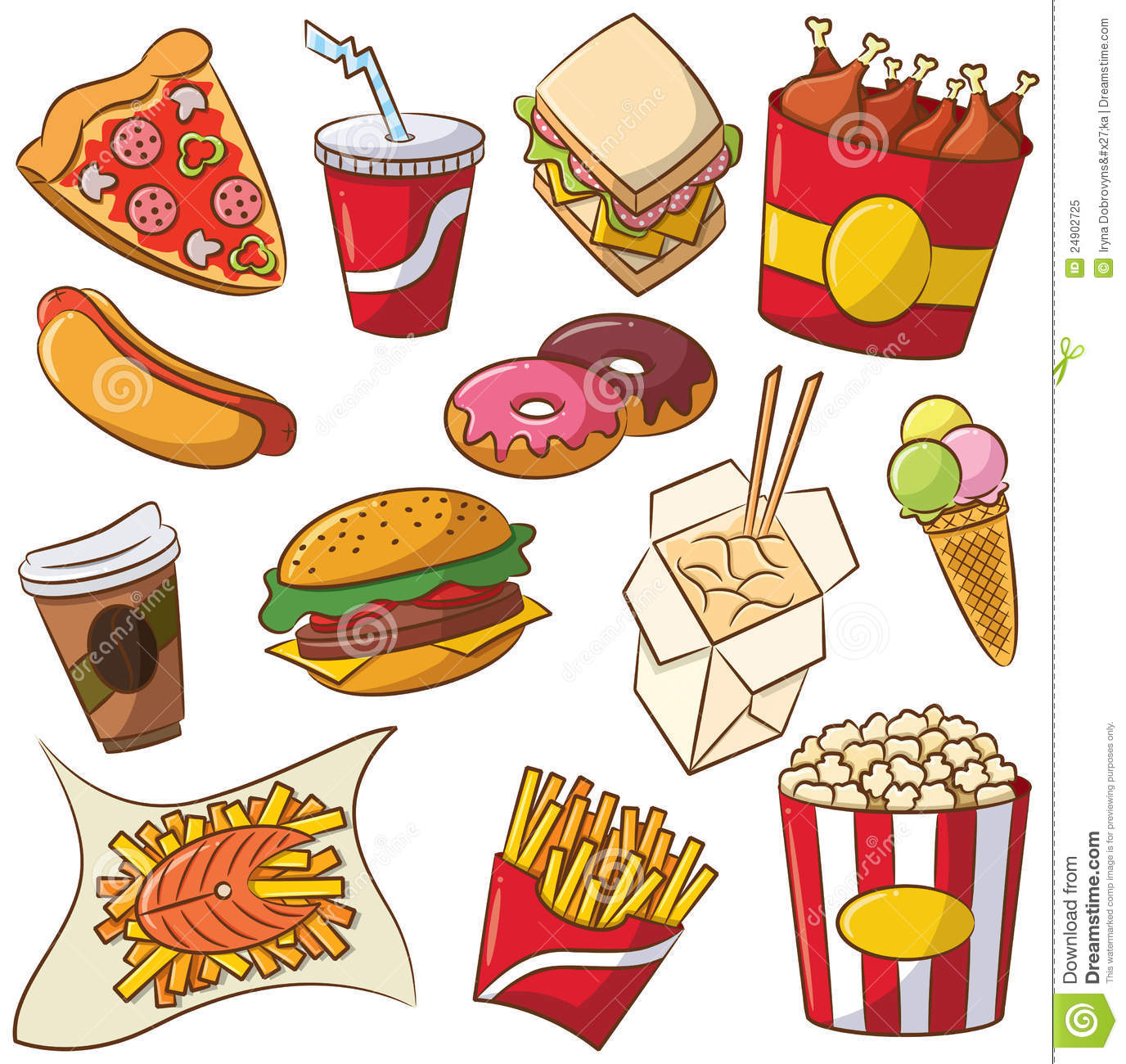 20 food clipart clipart transparent stock Fast food clip art - ClipartFest clipart transparent stock
