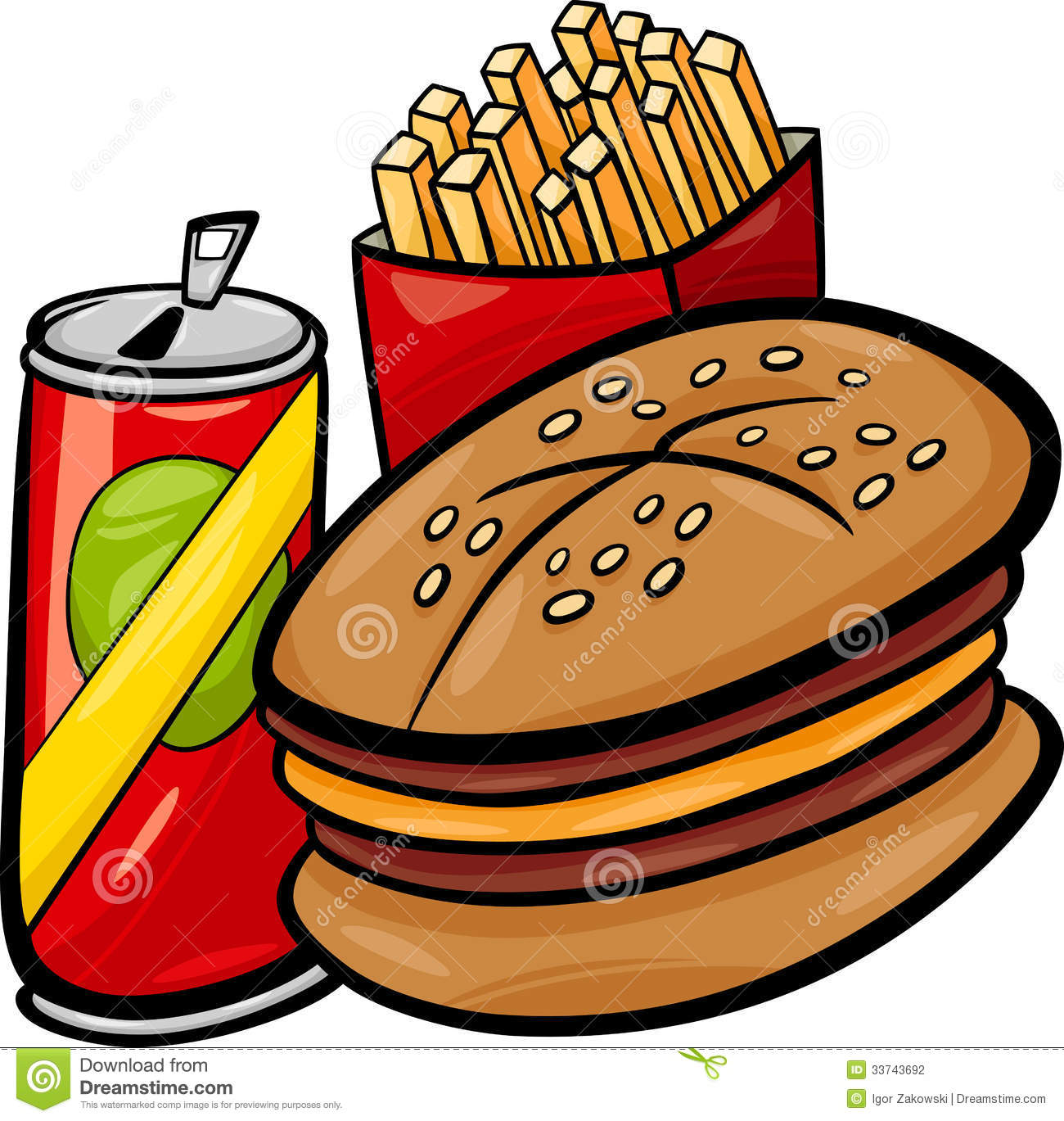 20 food clipart stock Clipart fast food - ClipartFest stock