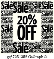 20 off sale clipart clipart freeuse 20 Off Clip Art - Royalty Free - GoGraph clipart freeuse