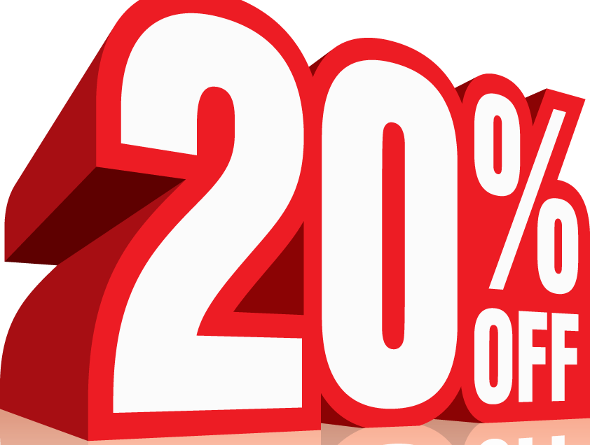 20 off sale clipart image freeuse download Now, Dojo U Members can get 20% Off All Supplies - Dojo University image freeuse download