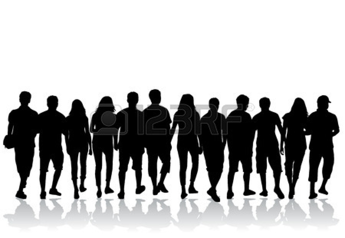 20 people clipart clip art freeuse library crowd of people - vector | Clipart Panda - Free Clipart Images clip art freeuse library