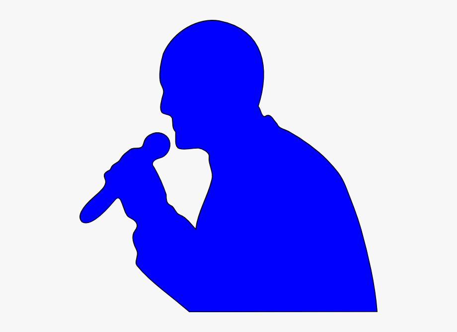 Clipart person singing transparent png black and white stock People Singing Clipart - Microphone Clip Art #171220 - Free Cliparts ... png black and white stock