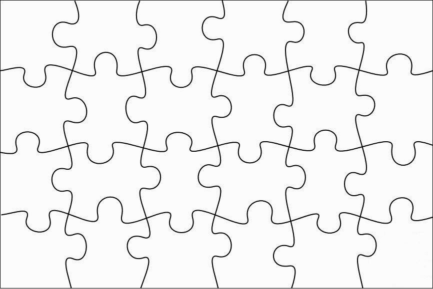 20 piece puzzle image clipart black and white download Free Puzzle Pieces Template, Download Free Clip Art, Free Clip Art ... black and white download