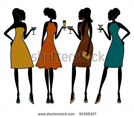 20 women clipart clip art black and white Female Group Of Friends Clipart - Clipart Kid clip art black and white