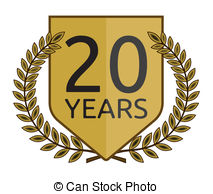 old stock illustration. 20 year clipart