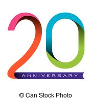 years vector eps. 20 year clipart