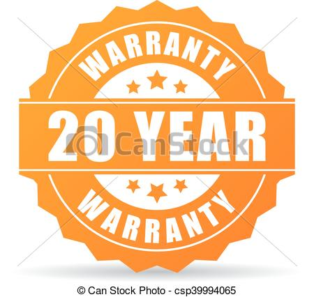 Clip Art Vector of 20 year warranty icon isolated on white ... clip library library