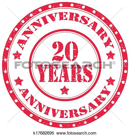 Clipart of Anniversary 20 Years-stamp k17682695 - Search Clip Art ... clipart free
