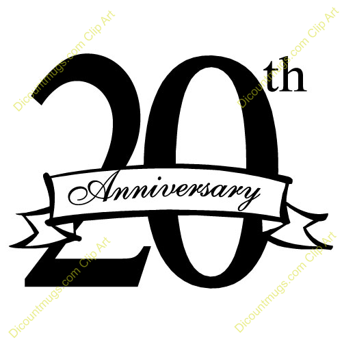 20 Year Anniversary Clipart clip black and white download