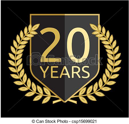 20 year clipart.  old stock illustration