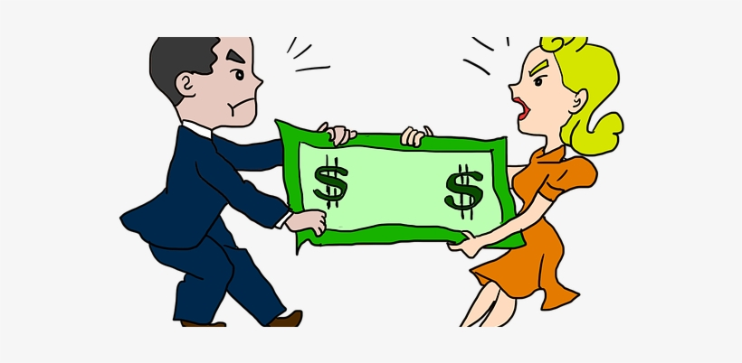 200 bill clipart clipart library library Divorced Couple Fighting Over Dollar Bills - Clipart Fighting Over ... clipart library library