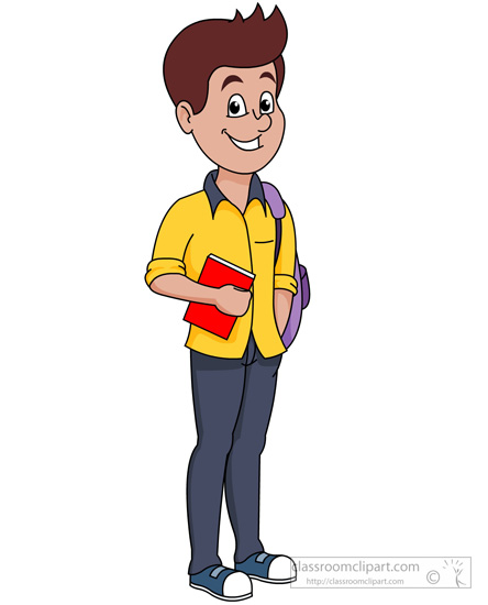 Clipart tennager clip art free library People : Teenage Boy With Bag And Book Clipart 200 - Free Clipart clip art free library