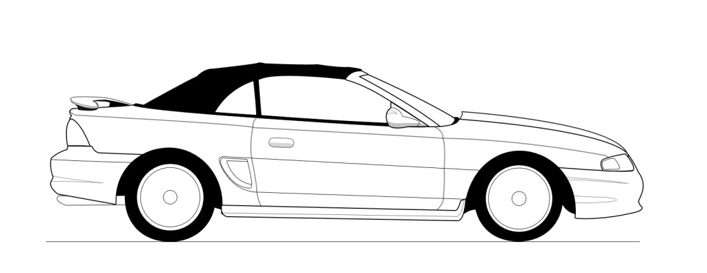 2000 mustang clipart clip black and white library Ford Mustang Gt Drawing | Free download best Ford Mustang Gt Drawing ... clip black and white library