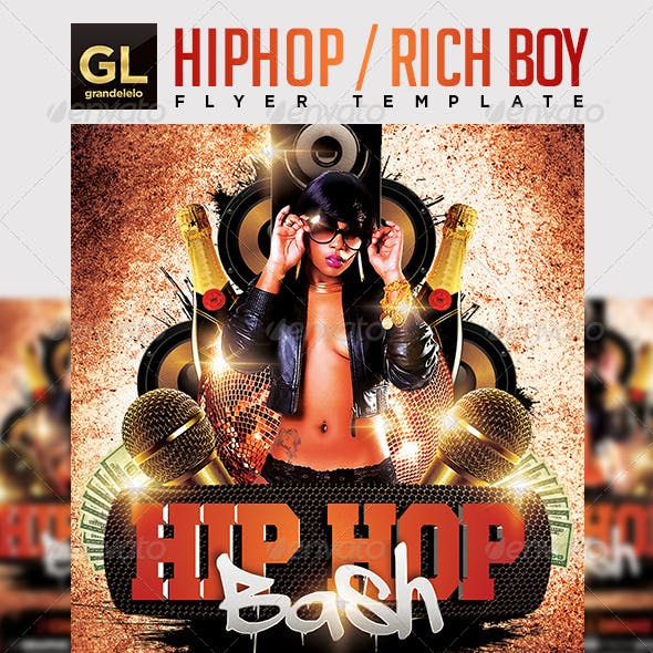 2000s hip hop flyer clipart clip art free library Rapper Graphics, Designs & Templates from GraphicRiver clip art free library