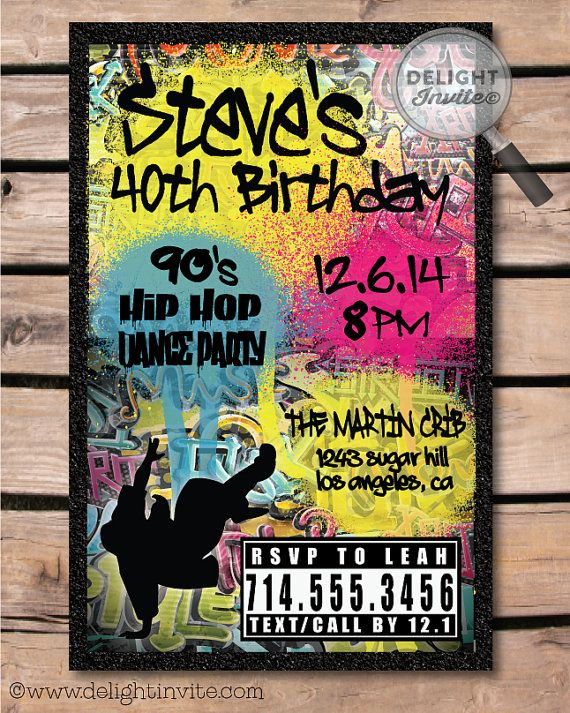 2000s hip hop flyer clipart jpg This is an awesome old school 80s-90s Hip Hop birthday invitation ... jpg