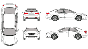 2002 honda accord clipart vector stock mr-clipart vector stock