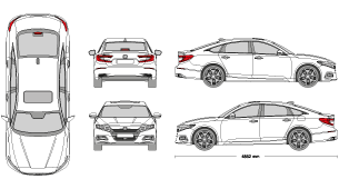 2002 honda accord clipart vector black and white stock mr-clipart vector black and white stock