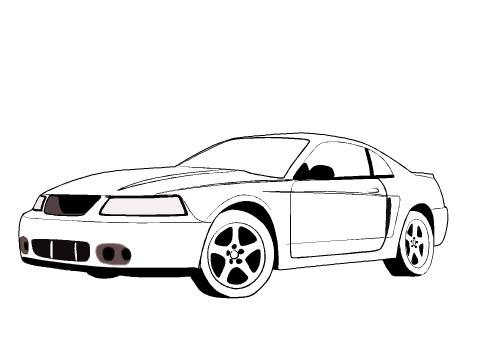 2004 mustang covertible clipart graphic Mustang Gt Drawing | Free download best Mustang Gt Drawing on ... graphic
