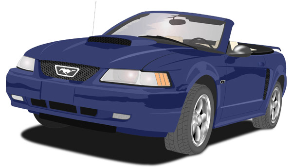2004 mustang covertible clipart picture royalty free stock Convertible Mustang Cliparts - Cliparts Zone picture royalty free stock