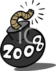 2008 clipart image transparent stock Clip Art Image: A Bomb with 2008 Written on It image transparent stock