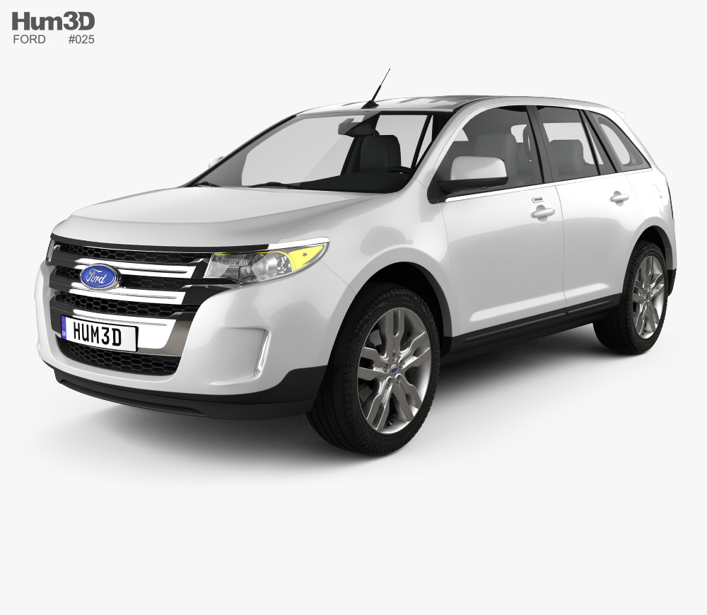 2012 ford edge clipart banner transparent library Ford Edge 2012 3D model banner transparent library