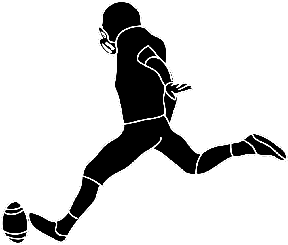 Football player clipart images vector black and white library 28+ Collection of Football Kicker Clipart | High quality, free ... vector black and white library