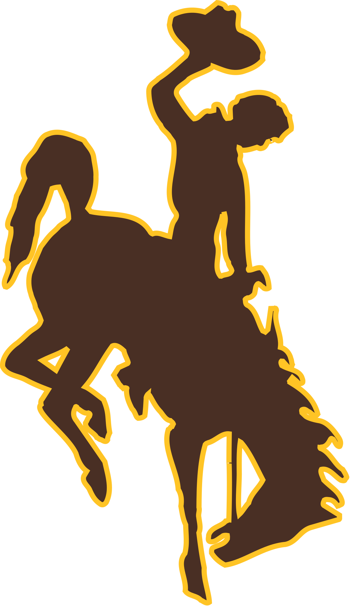 2014 michigan football player silhouette clipart clipart library 2017 Wyoming Cowboys football team - Wikipedia clipart library